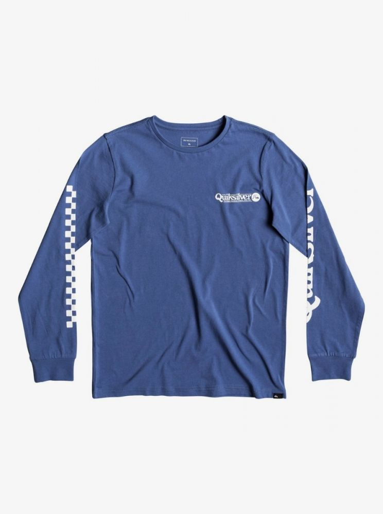 Quiksilver Check It - Long Sleeve T-Shirt for Boys - save 40%