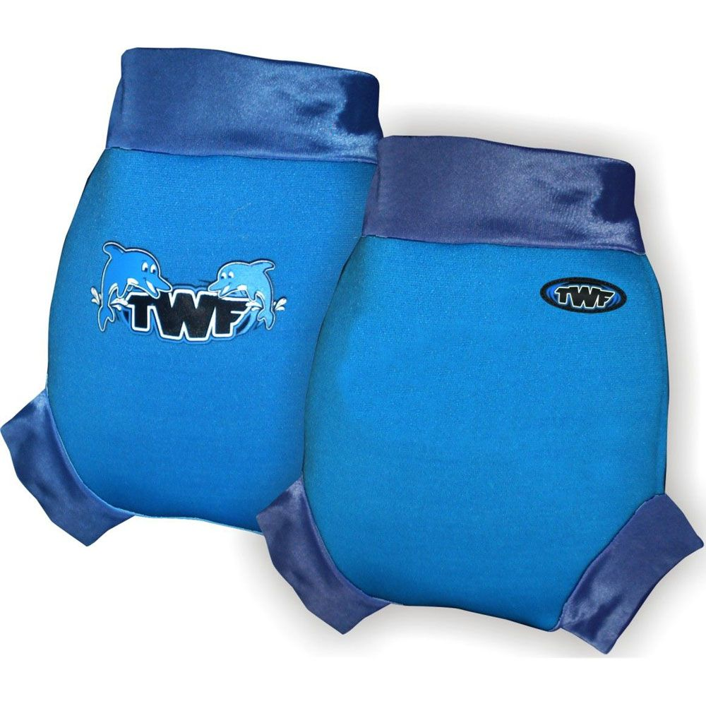 Baby Swim Nappy Cover - Dolphin Blue Small Size only - save 50%