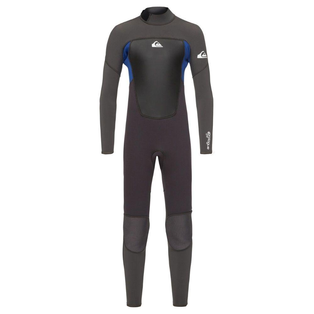 Quiksilver 3/2 Prologue Boys Full Wetsuit, Jet Black / Nite Blue
