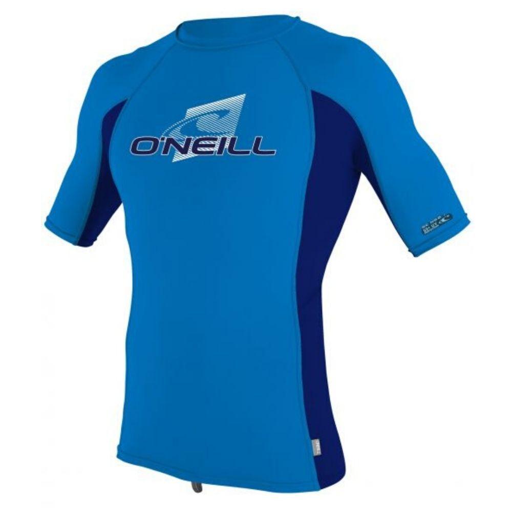 O'Neill Boys Premium Skins S/S Rash Guard - Ocean / Abyss
