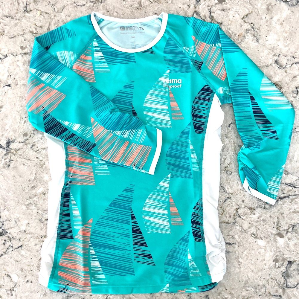 Reima Costa Girls Rash Vest - Turquoise