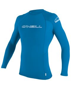 O'Neill UV Skins L/S Rash Crew, Bright Blue