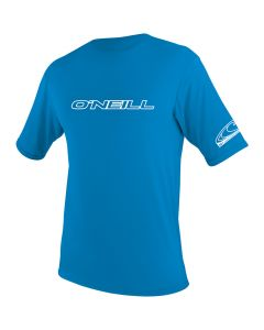 O'Neill Youth Basic Skins S/S Rash Tee, Bright Blue