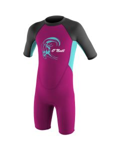 O'Neill Reactor Spring Girls Wetsuit 2mm, Berry/Light Aqua/Graphite