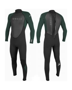 O'Neill Reactor II Boys Full 3/2mm Wetsuit, Black/Reef - 7/8 Only SAVE 25%