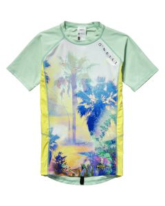 O'Neill Girls Zuma Beach S/S Skin - Yellow 15/16 yrs only save 50%