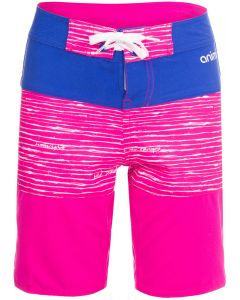 Animal Blocka Girls Fixed Waist Boardshorts, Lily Pink