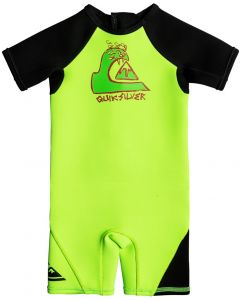 Quiksilver 1.5mm Boys Toddler Shorty Wetsuit, Green Flash - save 40%