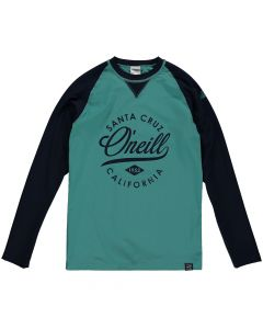 O'Neill Skins UV Protection Rash Tee, Green-Blue Slate - save 40%