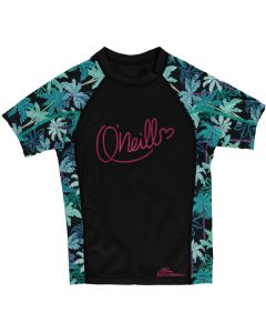 O'Neill Skins S/S Zuma UV Protection Girls Rash Tee, Black - save 40%