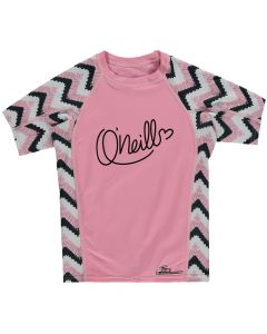 O'Neill Skins S/S Zuma UV Protection Girls Rash Tee, Pink - save 40%