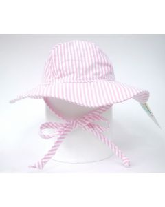 Flap Happy Floppy Hat, Pink Stripe save 40% 6-12mths only