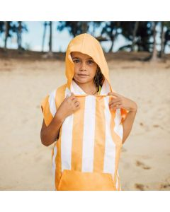 Dock & Bay Kids Beach Poncho with Bag - Ipanema Orange