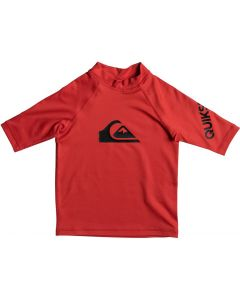 Quiksilver All Time Kid SS Rash Vest - Red