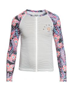 Roxy Sunset L/S Zipped Rash Top - Marshmallow save 40%
