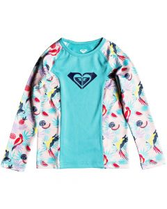 Roxy Simply Roxy L/S Rash Vest - Tropical peach save 25%