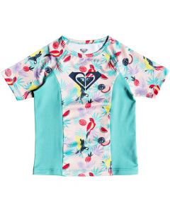 Roxy Simply Roxy S/S Rash Vest - Tropical peach save 25%