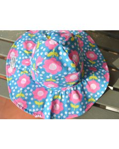 Flap Happy Floral Floppy Hat, 6-12 months