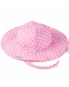 Flap Happy Toddler Girls Floppy Hat, Pink Dot