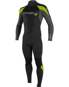 O'Neill Epic Youth 3/2 Wetsuit, Black/Smoke/Lime 15/16 YRS ONLY - save 35%