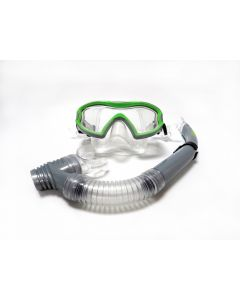 TWF Children's Mask & Snorkel Set - Silver/Green
