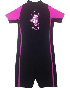 TWF Girls Seahorse Shortie Wetsuit - Pink