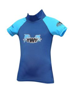 TWF Baby S/Sleeve Rash Vest Dolphin Blue - save 20% (2-3 years only)