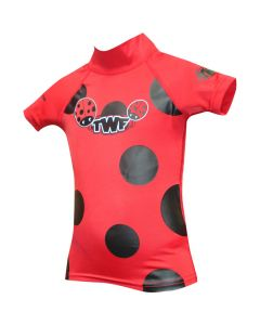 TWF Baby S/Sleeve Rash Vest Ladybird Red - save 20%
