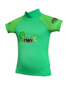 TWF Baby S/Sleeve Rash Vest Green - save 20% 6-12 months only