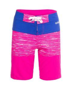 Animal Blocka Girls Boardshorts, Lily Pink - save 50%