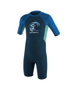 O'Neill Reactor 2mm Shortie Wetsuit - Slate / Light Aqua / Ocean