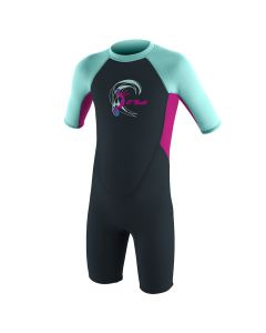 O'Neill Reactor 2mm Shortie Wetsuit - Slate/Berry/Seaglass