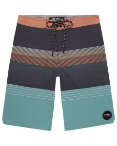 O'Neill Boys Stripe Club Cruzer Boardshorts, Black AOP Green