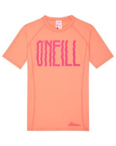 O'Neill Girls PG Logo S/S Skin - Neon Peach