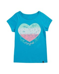 Animal Abella Girls T-Shirt - Peacock