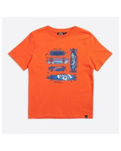 Animal Boys Firecracker Orange Boardslide Graphic Tee