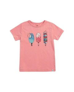 Animal Girls Dizzy Lolly Ballet Pink Graphic Tee