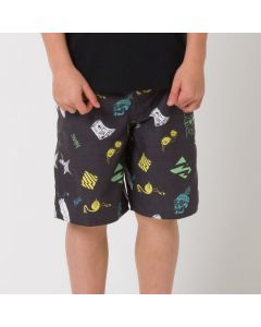 Animal Lino Boardshorts, Black