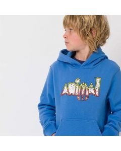 Animal Ryder Boys Hoodie, Seaport - save 40%