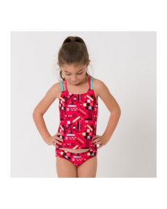 Animal Mazie Girls Tankini, Paradise Pink