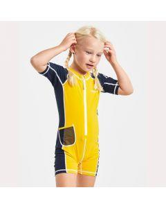 Didriksons Reef Kids Sunsuit 2 Yellow - save 40%