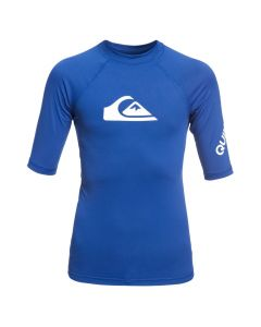 Quiksilver All Time Boy SS Rash Vest - Electric Blue