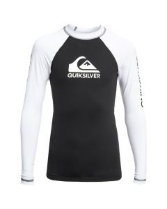 Quiksilver On Tour LS Rash Vest - Black & White