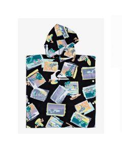 Quiksilver Hoody Towel Kids Surf Poncho - Black