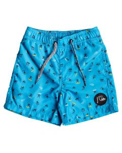 Quiksilver Wardog Boys Volley Swim Shorts, Malibu 2-6 years