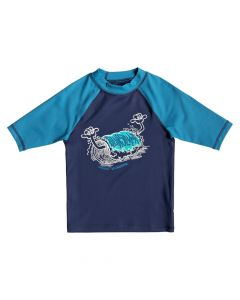 Quiksilver Bubble Dreams SS Rash Vest - Medieval Blue