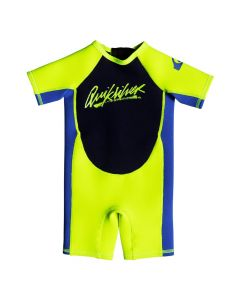 Quiksilver 1.5mm Boys Toddler Shorty Wetsuit, Safety Yellow/Blue - save 25%