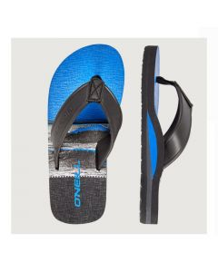 O'Neill Arch Print Sandals - Black AOP W/Blue