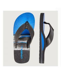 O'Neill Arch Print Flip Flops - Black/Blue - save 20%