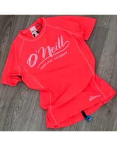 O'Neill Girls S/S Skin - Neon Tangerine 11-12 yrs only - save 25%